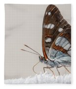 04 Southern White Admiral Butterfly Fleece Blanket