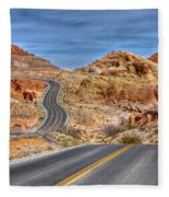 0445 Valley Of Fire Nevada Fleece Blanket