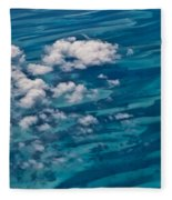 0458 Above The Caribbean Fleece Blanket