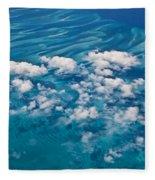 0459 Above The Caribbean Fleece Blanket