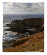 0513  Yaquina Lighthouse Fleece Blanket