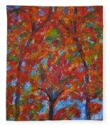 052 Abstract Thought Fleece Blanket