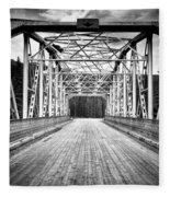 0648 Bow River Bridge Fleece Blanket