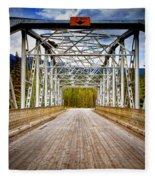 0649 Bow River Bridge Fleece Blanket