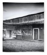 0706 Jerome Ghost Town Black And White Fleece Blanket