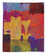 0787 Abstract Thought Fleece Blanket