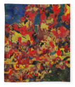 0808 Abstract Thought Fleece Blanket