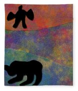 0864 Abstract Thought Fleece Blanket