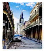 0928 St. Louis Cathedral - New Orleans Fleece Blanket
