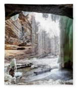 0938 Lasalle Falls - Starved Rock State Park Fleece Blanket