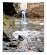 0941 Cascade Falls - Matthiessen State Park Fleece Blanket