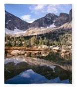 Cirque Of The Towers In Lonesome Lake 5 Fleece Blanket