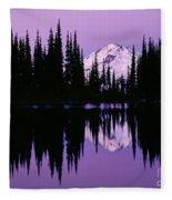 Glacier Peak  In Image Lake Fleece Blanket