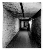 Image Of The Catacomb Tunnels In Paris France Fleece Blanket