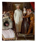Keeshond Art Canvas Print Fleece Blanket