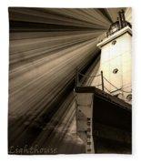 Ludington  Light House Michigan Fleece Blanket