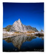 Prusik Peak Reflects In Gnome Tarn Fleece Blanket