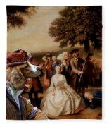 Welsh Springer Spaniel Art Canvas Print Fleece Blanket