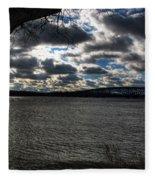 001 Grand Island Bridge Series Fleece Blanket