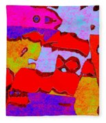 0319 Abstract Thought Fleece Blanket