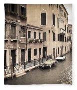 0502 Venice Italy Fleece Blanket