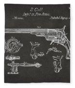 1839 Colt Fire Arm Patent Artwork - Gray Fleece Blanket