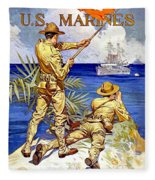 1917 - United States Marines Recruiting Poster - World War One - Color Fleece Blanket