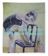 1920s Girl Fleece Blanket