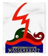 1924 - Austria Electricity Poster Advertisement - Color Fleece Blanket