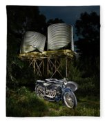 1924 Ace And Corrugated Water Tanks Fleece Blanket