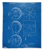 1929 Basketball Patent Artwork - Blueprint Fleece Blanket