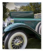 1929 Isotta Fraschini Tipo 8a Convertible Sedan Fleece Blanket