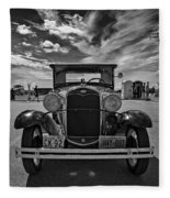 1931 Model T Ford Monochrome Fleece Blanket