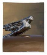 1941 Cadillac Fleetwood Hood Ornament Fleece Blanket