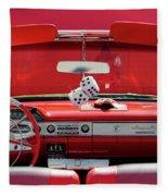1950s Chevrolet Impala Detail Fleece Blanket