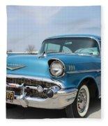 1957 Chevy Bel-air Fleece Blanket