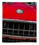 1958 Chevrolet Corvette Grille Fleece Blanket