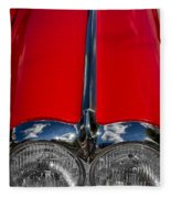 1958 Chevrolet Corvette Headlights Fleece Blanket