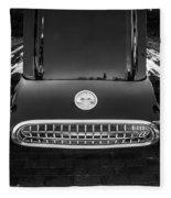 1959 Chevy Corvette Convertible Bw  Fleece Blanket