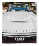 1964 Ford Thunderbird Painted Fleece Blanket
