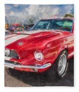 1967 Ford Shelby Mustang Gt500 Painted  Fleece Blanket