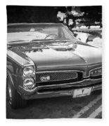 1967 Pontiac Gto Bw Fleece Blanket