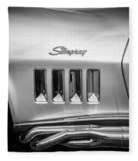 1969 Chevrolet Corvette 427 Bw Fleece Blanket