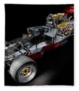 1974 Lola T332  F5000 Race Car V8 5 Litre Chassis Fleece Blanket