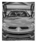 2006 Mitsubishi Eclipse Gt V6 Painted Bw Fleece Blanket