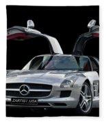 Mercedes Benz S L S  Gull-wing Fleece Blanket