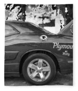 2010 Plymouth Superbird Bw  Fleece Blanket