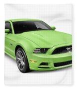 2013 Ford Mustang Gt 5.0 Sports Car Fleece Blanket