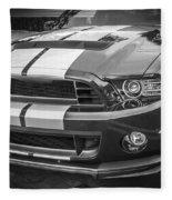 2013 Ford Mustang Shelby Gt 500 Bw Fleece Blanket