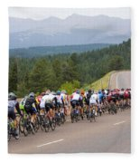 2014 Usa Pro Cycling Challenge Fleece Blanket